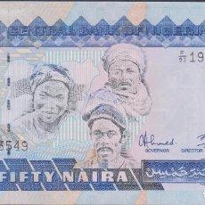 Billetes extranjeros: BILLETES - NIGERIA - 50 NAIRA 1991 - SERIE F/93 Nº 193549 - PICK-27B (SC). Lote 176293158