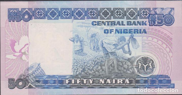 Billetes extranjeros: BILLETES - NIGERIA - 50 NAIRA 1991 - SERIE F/93 Nº 193549 - PICK-27B (SC) - Foto 2 - 176293158