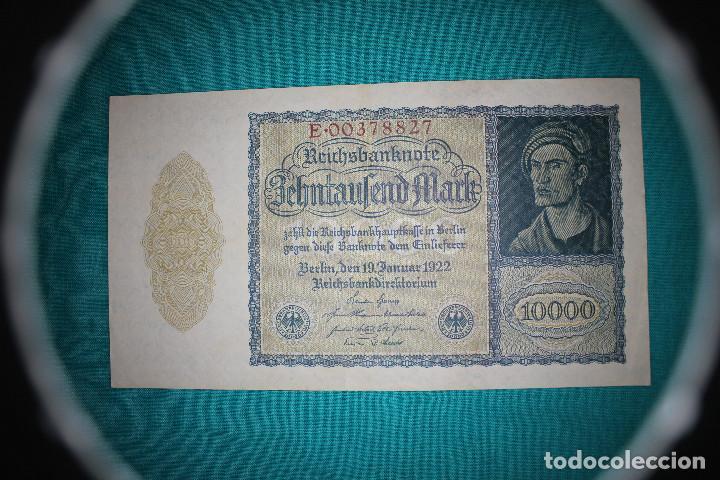 ALEMANIA BILLETE DE 10000 MARCOS 1922 –LLAMADO –NOSFERATU- (Numismática - Notafilia - Billetes Extranjeros)
