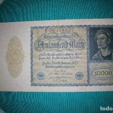International Banknotes - Alemania Billete de 10000 Marcos 1922 –Llamado –NOSFERATU- - 121624859