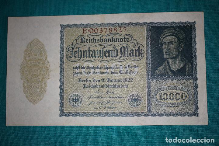 Billetes extranjeros: Alemania Billete de 10000 Marcos 1922 –Llamado –NOSFERATU- - Foto 2 - 121624859