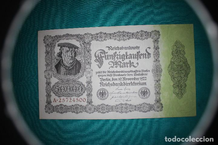 Billetes extranjeros: Alemania Billete de 50000 Marcos 1922 - Foto 1 - 121625123