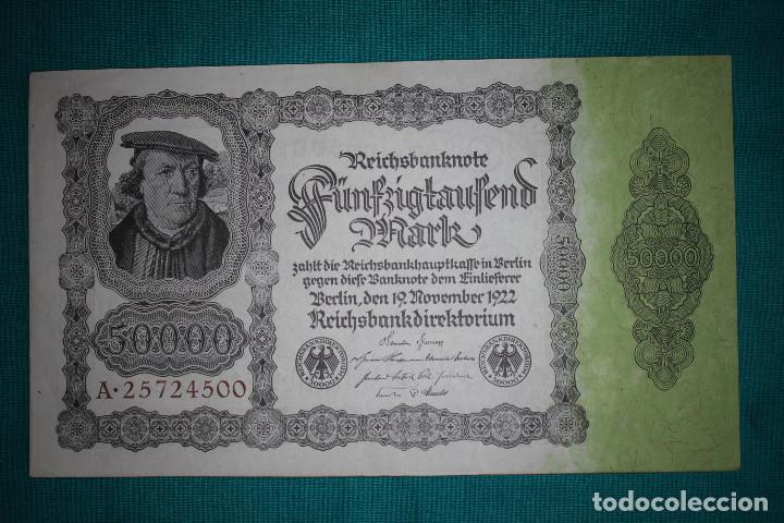 Billetes extranjeros: Alemania Billete de 50000 Marcos 1922 - Foto 2 - 121625123
