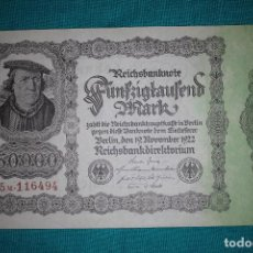 Billetes extranjeros: ALEMANIA BILLETE DE 50000 MARCOS 1922. Lote 121625331