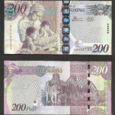 Billetes extranjeros: BOTSWANA 200 PULA 2012 PICK 34C - S/C. Lote 121644471