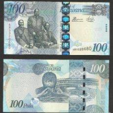 Billetes extranjeros: BOTSWANA 100 PULA 2010 PICK 33B- S/C. Lote 121644715