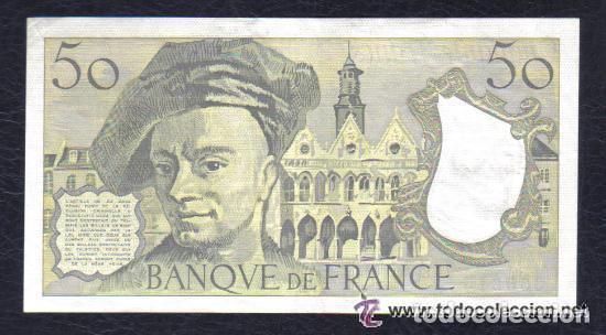 Billetes extranjeros: FRANCIA - 50 FRANCOS 1991 QUENTIN DE LA TOUR P.152 EBC++ XF++ - Foto 2 - 121704159