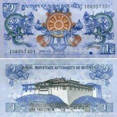 Billetes extranjeros: BHUTAN 1 NGULTRUM 2013 PICK 27B - S/C. Lote 121751375