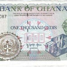 Billetes extranjeros: GHANA 1.000 CEDIS 6-1-1995 PK 29 B.3 FIRMA AGAMA. Lote 121817903