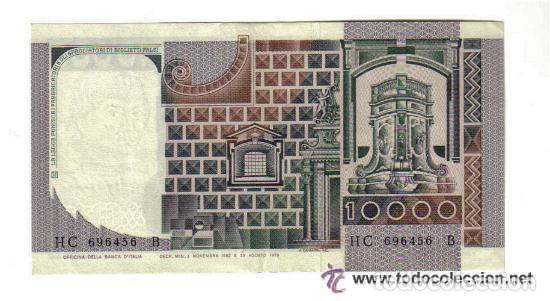 Billetes extranjeros: ITALIA 10.000 LIRAS 1976 EBC+ P.106 XF+ - Foto 2 - 121841123