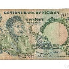 Billetes extranjeros: BILLETE DE 20 NAIRA DE NIGERIA DE 1984. BC- WORLD PAPER MONEY-26F. (BE265). Lote 121996247