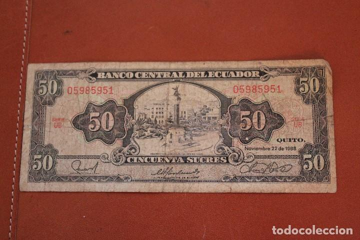 ECUADOR. 50 SUCRES (Numismática - Notafilia - Billetes Extranjeros)