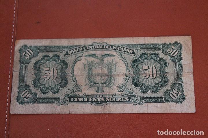 Billetes extranjeros: ECUADOR. 50 SUCRES - Foto 2 - 122220199