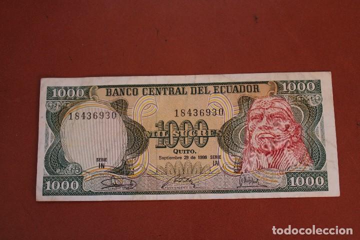 ECUADOR 1000 SUCRES (Numismática - Notafilia - Billetes Extranjeros)