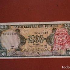 Billetes extranjeros: ECUADOR 1000 SUCRES. Lote 122220867