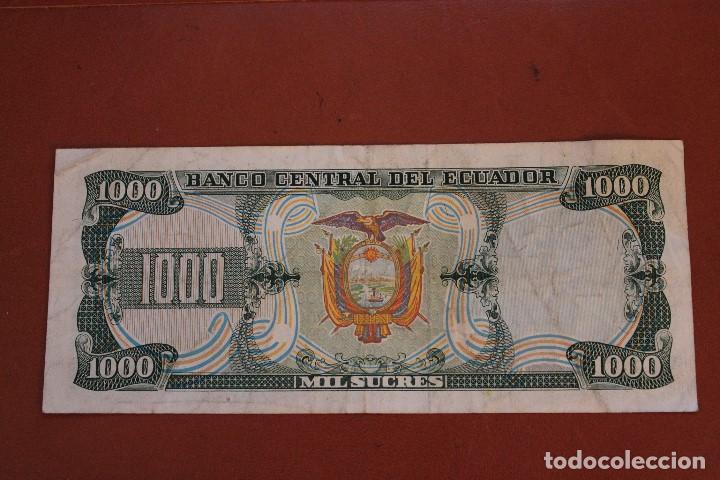 Billetes extranjeros: ECUADOR 1000 SUCRES - Foto 2 - 122220867