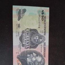 Billetes extranjeros: BANCO CENTRAL DE URUGUAY 50 NUEVOS PESOS PLANCHA SIN CIRCULAR. Lote 122288759