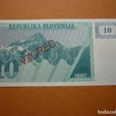 Billetes extranjeros: BILLETES ESLOVENIA - 10 TOLARJEV 19(90) - SERIE AK - PICK-3S1 VZOREC (SC). Lote 122782923