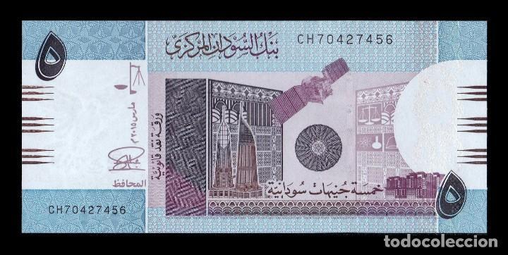 SUDÁN 5 LIBRAS SUDANESAS 2015 PICK 72C SC UNC (Numismática - Notafilia - Billetes Extranjeros)