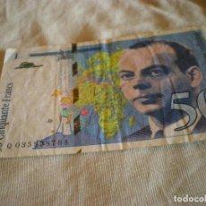 Billetes extranjeros: BILLETE DE 50 FRANCOS FRANCESES USADO Y EN CIRCULACIÒN. Lote 124121187