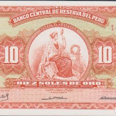 Billetes extranjeros: BILLETES - PERU - 10 SOLES DE ORO 1968 - SERIE I158-147579 - PICK-84 (SC). Lote 147410644