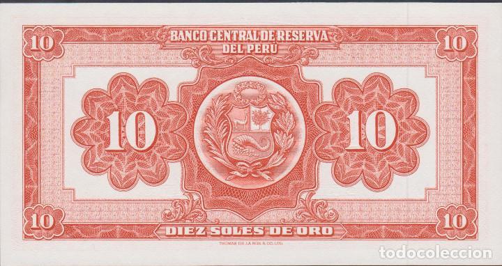 Billetes extranjeros: BILLETES - PERU - 10 SOLES DE ORO 1968 - SERIE I158-147579 - PICK-84 (SC) - Foto 2 - 147410644