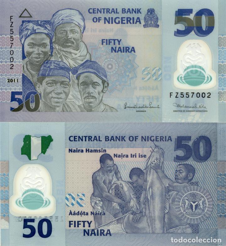 Nigeria - 50 naira (polymero) - año 2011 - s/c - Sold