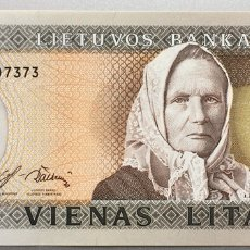 Billetes extranjeros: LITUANIA. 1 LITA. Lote 147554809