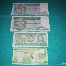 Billetes extranjeros: ÁFRICA 2- LOTES DE 4 BILLETES DE BANCO S/C-PLANCHA. Lote 126164906