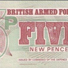 Billetes extranjeros: GRAN BRETAÑA FUERZAS ARMADAS 5 PENIQUES 1972 PICK M47 - SC / UNC. Lote 124578035