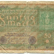 Billetes extranjeros: ALEMANIA - GERMANY 50 MARK 1919 PICK 66. Lote 124674679