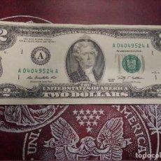 Billetes extranjeros: EUA - 2 DOLLARS - EBC. Lote 124893415