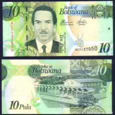 Billetes extranjeros: BOTSWANA - 10 PULA - SIN FECHA (2012) - S/C. Lote 172308184