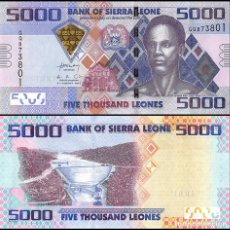 Billetes extranjeros: SIERRA LEONA (SIERRA LEONE) - 5000 LEONES - (4TH. AUGUST 2013) - S/C. Lote 125162563