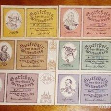 Billetes extranjeros: ALEMANIA NOTGELD/WITTENBERG. 25, 50 PFENNIG Y 1, 2, 5, 10 MARK 1922. SC.. Lote 126180911