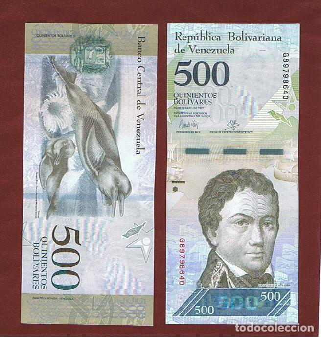 VENEZUELA : 500 BOLIVARES 2017. SC.UNC. PK.94 (Numismática - Notafilia - Billetes Extranjeros)