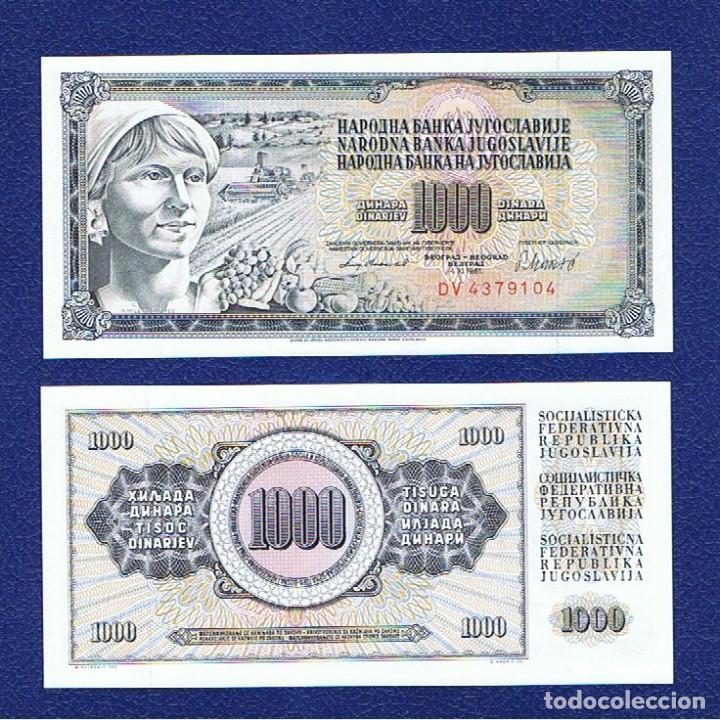 YUGOSLAVIA : 1000 DINARA 1981. SC.UNC. PK.92 D (Numismática - Notafilia - Billetes Extranjeros)