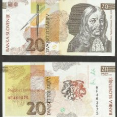 Billetes extranjeros: ESLOVENIA 20 TOLARJEV 1992 PICK 12A - S/C. Lote 127136079