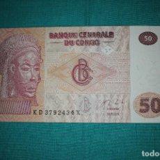 Billetes extranjeros: CONGO 50 FRANCOS 2013 SIN CIRCULAR. Lote 127532343