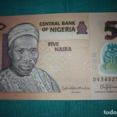 Billetes extranjeros: NIGERIA BILLETE DE 5 NAIRA 2016 S/C. Lote 127532399
