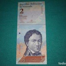 Billetes extranjeros: VENEZUELA BILLETE DE 2 BOLÍVAR 2013 SIN CIRCULAR. Lote 127532415