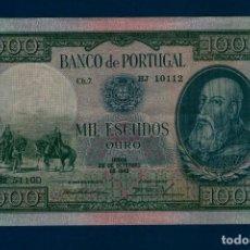 Billetes extranjeros: PORTUGAL : 1000 ESCUDOS 1942 ( D.ALFONSO ENRIQUEZ ) MBC+.VF+. PK. 156. Lote 127654859