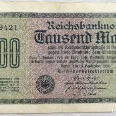 Billetes extranjeros: BILLETE ALEMANIA. 1000 MARCOS. 1922. MARCA E. Lote 127660503
