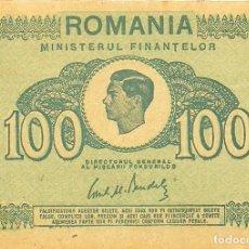 Billetes extranjeros: BILLETE 100 LEI, RUMANIA. Lote 127773755