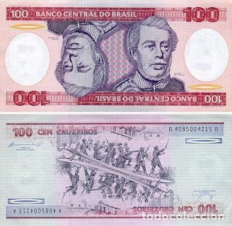 BRASIL 100 CRUZEIROS 1984 PICK 198B - S/C (Numismática - Notafilia - Billetes Extranjeros)
