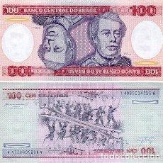 Billetes extranjeros: BRASIL 100 CRUZEIROS 1984 PICK 198B - S/C. Lote 127778027
