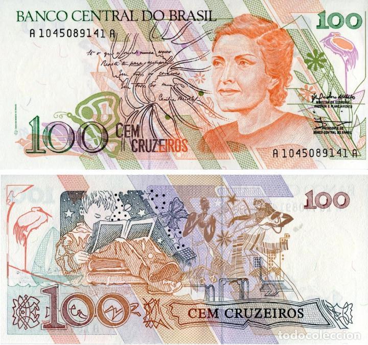BRASIL 100 CRUZEIROS 1990 PICK 228 - S/C (Numismática - Notafilia - Billetes Extranjeros)