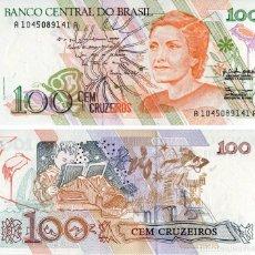 Billetes extranjeros: BRASIL 100 CRUZEIROS 1990 PICK 228 - S/C. Lote 130308942