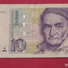 Billetes extranjeros: BILLETE 10 MARCOS. ALEMANIA. 1991. Lote 127884187