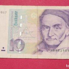 Billetes extranjeros: BILLETE 10 MARCOS. ALEMANIA. 1991. Lote 127884231
